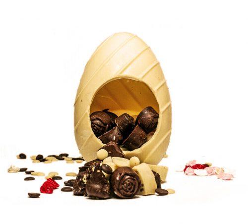 ביצת פרלינים משוקולד לבן - חלון