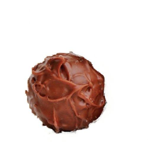 טראפלס שוקולד חלב במילוי גנאש שוקולד בלגי עטוף בשוקולד חלב ומגולגל באבקת קקאו ממותקת